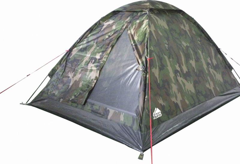 Палатка трехместная Trek Planet Fisherman 4, цвет: камуфляж70128Однослойная четырехместная палатка Trek Planet Fisherman 4, станет необходимым атрибутом похода, рыбалки или охоты. Благодаря камуфляжной расцветке, не привлекает лишнего внимания на природе. ОСОБЕННОСТИ МОДЕЛИ: - Простая и быстрая установка, - Тент палатки из полиэстера, с пропиткой PU водостойкостью 1000 мм, надежно защитит от дождя и ветра, все швы проклеены, - Каркас выполнен из прочного стекловолокна, - Дно изготовлено из прочного армированного полиэтилена, - Москитная сетка на входе в палатку в полный размер двери, - Вентиляционное окно сверху палатки не дает скапливаться конденсату на стенках палатки, - Внутренние карманы для мелочей, - Возможность подвески фонаря в палатке. - Для удобства транспортировки и хранения предусмотрен чехол с двумя ручками, закрывающийся на застежку-молнию. Артикул: 70128 Характеристики: Количество мест: 4 Цвет: камуфляж. Размер: 240 см х 205 см х 130 см. Размер в сложенном виде: 12 см х 12...