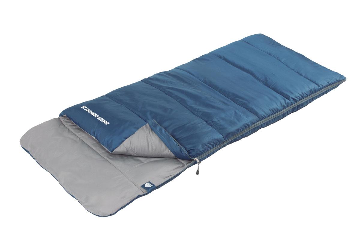 Спальный мешок Trek Planet Ranger Comfort Jr, цвет: синий, левосторонняя молния70314-LКомфортный, легкий и очень удобный в использовании спальник-одеяло с подголовником, для детей и подростков Trek Planet Ranger Comfort Jr предназначен для походов преимущественно в летний период. Этот спальник пригодится вам такеж во время поездки на пикник, на дачу, или во время туристического похода. ОСОБЕННОСТИ СПАЛЬНИКА: - Удобный плоский капюшон, - Молния имеет два замка с обеих сторон - Термоклапан вдоль молнии, - Молния с левой стороны, - Внутренний карман, - Небольшой вес, - К спальнику прилагается чехол для удобного хранения и переноски. ХАРАКТЕРИСТИКИ: Цвет: синий t° комфорт: 14°C t° лимит комфорт: 9°C t° экстрим: 0°C. Внешний материал: 100% полиэстер Внутренний материал: 100% полиэстер Утеплитель: Hollow Fiber 1x200 г/м2. Размер: (160+25) см х 70 см. Размер в чехле: 17 см х 17 см х 32 см. Вес: 0,8 кг. Производитель: Китай. Артикул: 70314-L.
