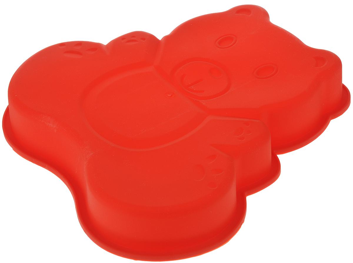 Форма для выпечки Bekker Медвежонок, силиконовая, 25 х 24,5 х 4 смВК-9420_красныйФорма для выпечки Bekker Медвежонок изготовлена из качественного пищевого силикона. Силиконовые формы для выпечки имеют множество преимуществ по сравнению с традиционными металлическими формами и противнями. За счет высокой теплопроводности силикона изделия выпекаются заметно быстрее. Благодаря гибкости и антиприлипающим свойствам силикона, готовая выпечка легко извлекается из формы. Для этого достаточно отогнуть края и вывернуть форму (выпечке дайте немного остыть, а замороженный продукт лучше вынимать сразу). Силикон абсолютно безвреден для здоровья, не впитывает запахи, не оставляет пятен, легко моется. Форма для выпечки Bekker Медвежонок - практичный и необходимый подарок любой хозяйке! Форма идеально подходит для использования в микроволновых, газовых и электрических печах при температурах до +230°С. В случае заморозки до -40°С. Можно мыть в посудомоечной машине.