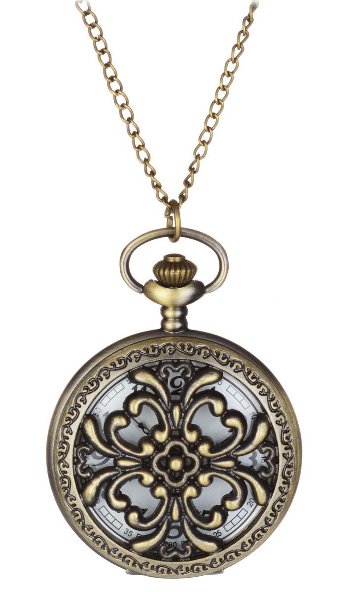 Кулон-часы Ампир. ANTIK-094ANTIK-094Великолепный кулон-часы Ампир - стильный аксессуар с элементом функциональности. Представляет собой цепочку из металлического сплава с подвеской круглой формы. Корпус цвета античного золота выполнен из металла и декорирован с одной стороны оригинальными изображениями, а с другой - резным узором в стиле позднего классицизма Ампир. Внутри корпуса под крышкой располагаются кварцевые часики с круглым циферблатом и тремя стрелками. Часовая и минутная стрелки исполнены под старину. Сверху расположена кнопка, открывающая крышку часов. Изделие застегивается на карабин. Этот яркий и необычный аксессуар, несомненно, привлечет внимание и добавит вашему образу загадочности и индивидуальности.