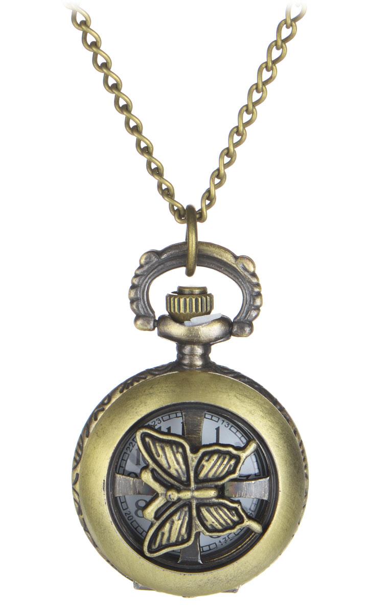 Кулон-часы Медальон-мотылек. ANTIK-006ANTIK-006Изящный кулон-часы Медальон-мотылек - стильный аксессуар с элементом функциональности. Представляет собой цепочку из металлического сплава с подвеской круглой формы. Корпус цвета античного золота выполнен из металла и декорирован с одной стороны оригинальными изображениями цветов, а с другой - крутящимся декоративным элементом в виде мотылька. Внутри корпуса под крышкой располагаются кварцевые часики с круглым циферблатом и тремя стрелками. Сверху расположена кнопка, открывающая крышку часов. Изделие застегивается на карабин. Этот яркий и необычный аксессуар, несомненно, привлечет внимание и добавит вашему образу загадочности и индивидуальности.