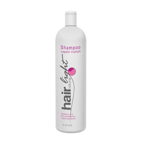 Hair Company Шампунь для восстановления структуры волос Hair Natural Light Shampoo Capelli Trattati 1000 мл (Hair Company Professional)