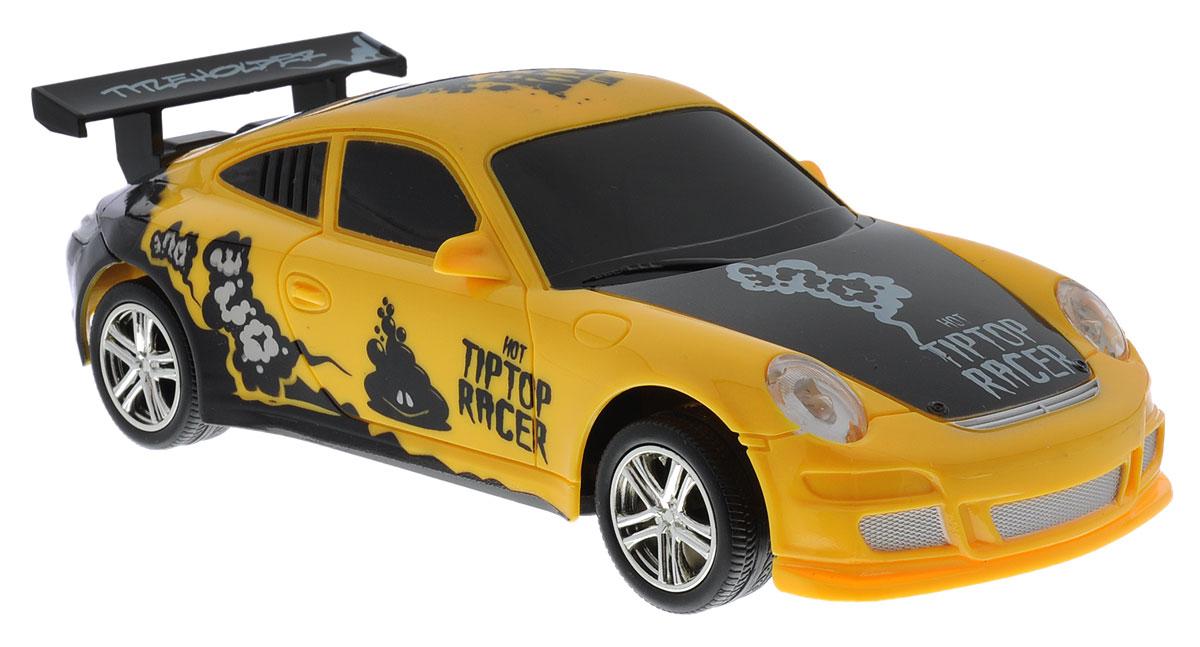 Balbi Машина на радиоуправлении Hot Tiptop RacerRCS-2401 BМашина на радиоуправлении Balbi Hot Tiptop Racer привлечет внимание вашего ребенка и не позволит ему скучать! Игрушка выполнена из безопасного пластика. Колеса игрушки прорезинены, что обеспечивает плавный ход, машинка не портит напольное покрытие. Управление машинкой происходит с помощью пульта. Автомобиль двигается вперед и назад, поворачивает направо, налево и останавливается. Пульт управления работает на частоте 27 MHz. Автомобиль обладает световыми эффектами. Радиоуправляемые игрушки способствуют развитию координации движений, моторики и ловкости. Ваш ребенок часами будет играть с машиной, придумывая различные истории и устраивая соревнования. Машина работает от 3 батареек типа АА (не входят в комплект). Для работы пульта управления необходимы 2 батарейки типа AA (не входят в комплект).
