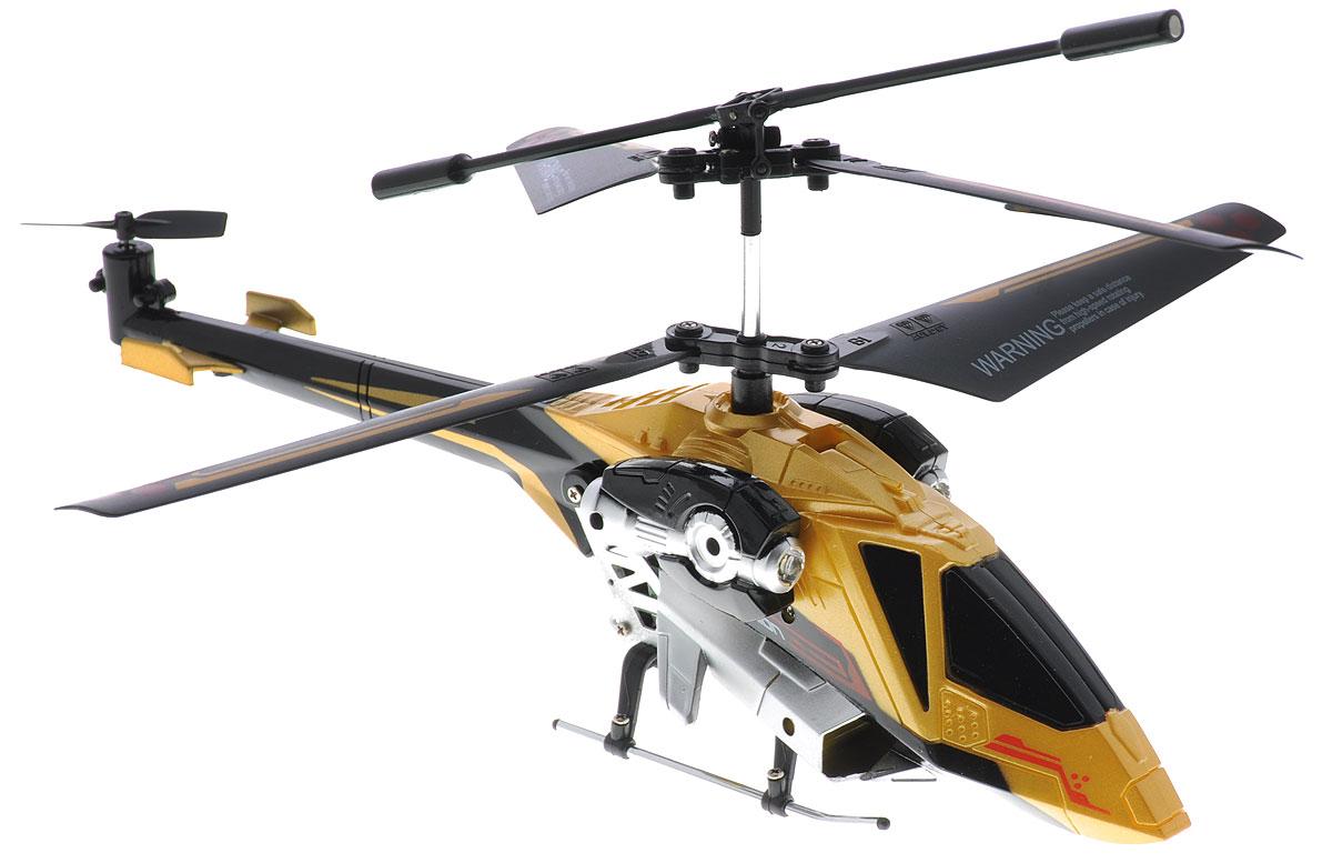 Auldey Вертолет на инфракрасном управлении Sky Rover цвет золотистыйYW858190Вертолет на инфракрасном управлении Auldey Sky Rover со встроенным гироскопом отлично подходит для полетов в закрытых помещениях и на улице в безветренную погоду. Гироскоп предназначен для курсовой стабилизации полета. Игрушка выполнена из прочного пластика с металлическими элементами и имеет два основных винта и один хвостовой. Вертолет стабилен в воздухе и легко управляется. Пульт управления позволяет вертолету летать вверх-вниз, вперед-назад и вращаться и останавливаться. А также вертолет оснащен системой автопилот и LED-подсветкой. Эта увлекательная игрушка понравится не только детям, но и взрослым, и подарит вам множество счастливых мгновений. Вертолет работает от встроенного аккумулятора, который можно заряжать от USB-кабеля (входит в комплект). Для работы пульта управления необходимо купить 6 батареек напряжением 1,5V типа АА (в комплект не входят). Высота полета: 8 метров. Время полета: не менее 6 минут. Время зарядки...