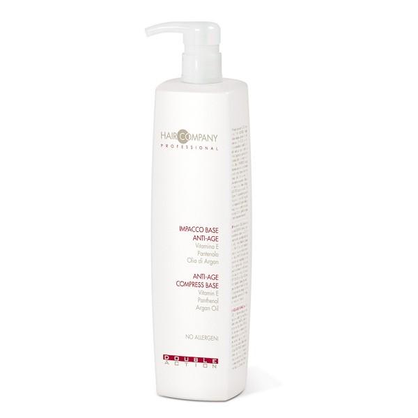 Hair Company Маска против старения волос Double Action Anti-Age 1000 мл252717/LB11655 RUSМаска против старения волос Hair Company Double Action Anti-Age Compress Base деликатно и особо тщательно очищает волосы и кожу головы с кислым pH. Рекомендуется для волос, утративших жизненную силу. Содержит витамин Е, который оказывает увлажняющее действие, пантенол обладает невероятным увлажняющим и успокаивающим кожу головы эффектом. Отличная основа для усиления действия Комплекса против старения волос Anti-Age Deep Reconstruction Complex Double Action.