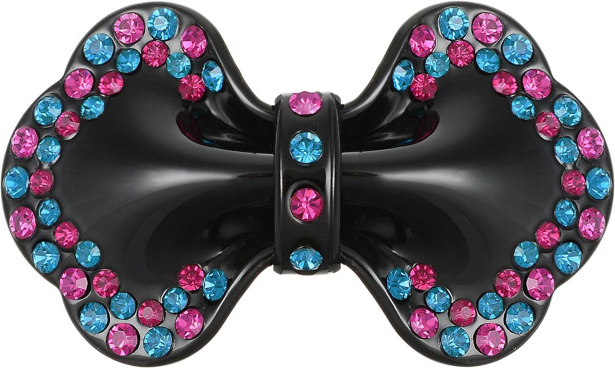 Заколка для волос Selena, цвет: черный, бирюзовый, фуксия. 7003787170037871Стильная заколка для волос с автоматическим зажимом Selena изготовлена из пластика и декорирована стразами Swarovski. Оригинальное украшение блестяще подчеркнет красоту вашей прически, а также поможет внести разнообразие в привычный образ.