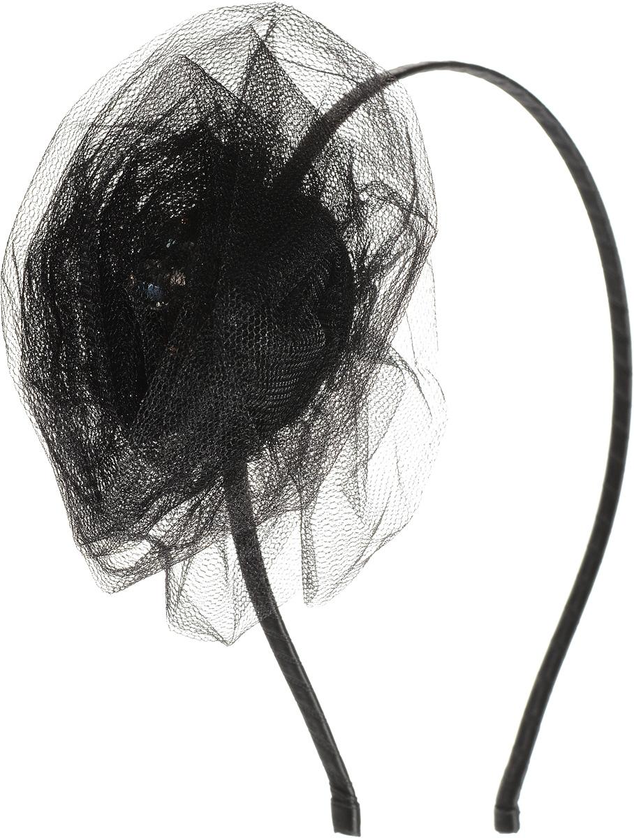 Ободок жен. Selena, цвет: черный. 7004511670045116Материал: текстиль. Декорирование: стекло, искусственный жемчуг, стразы Swarovski.