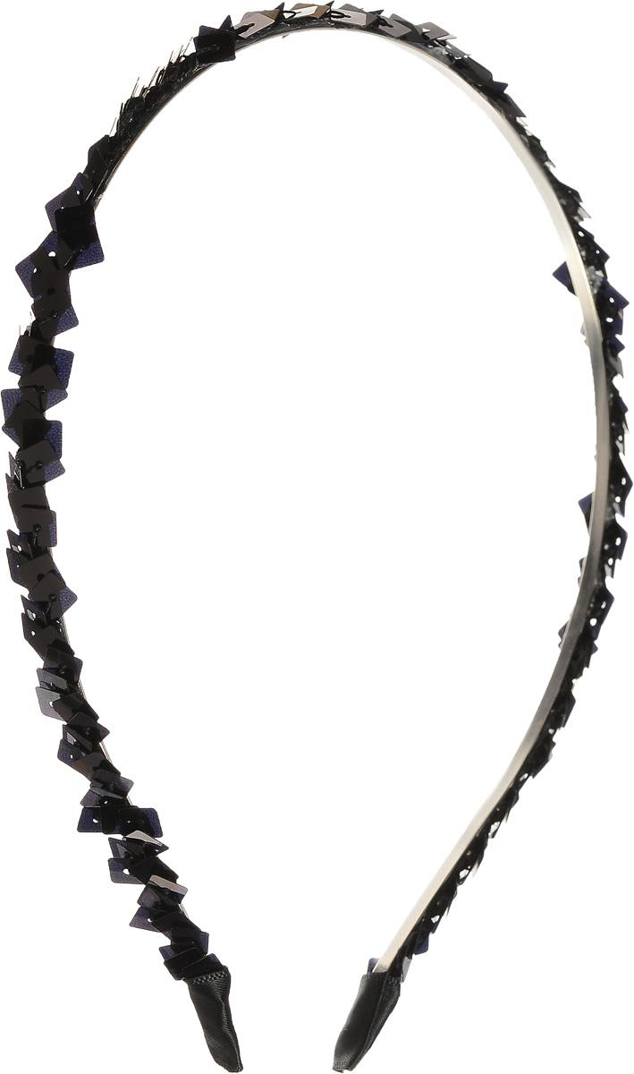 Ободок для волос Selena, цвет: черный. 7006511670065116Ободок для волос Selena, выполненный из металла, украшен сверху россыпью пайеток и на концах обтянут текстильным материалом. Ободок позволяет не только убрать непослушные волосы со лба, но и придать вашему образу романтичности и очарования. Правильно подобранный к цветовой гамме одежды, ободок сделает вас стильной и женственной и подчеркнет красивые черты вашего лица.