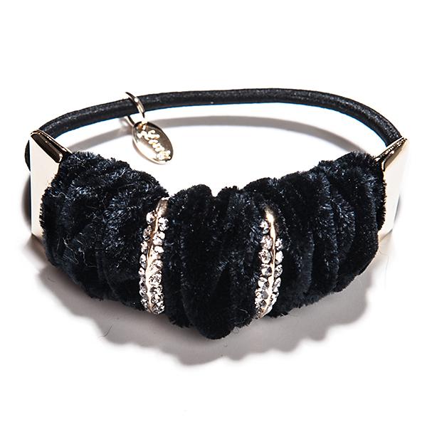 Резинка для волос жен. Selena, цвет: черный. 7006662570066625Текстиль. Декорирование: кристаллы Preciosa.