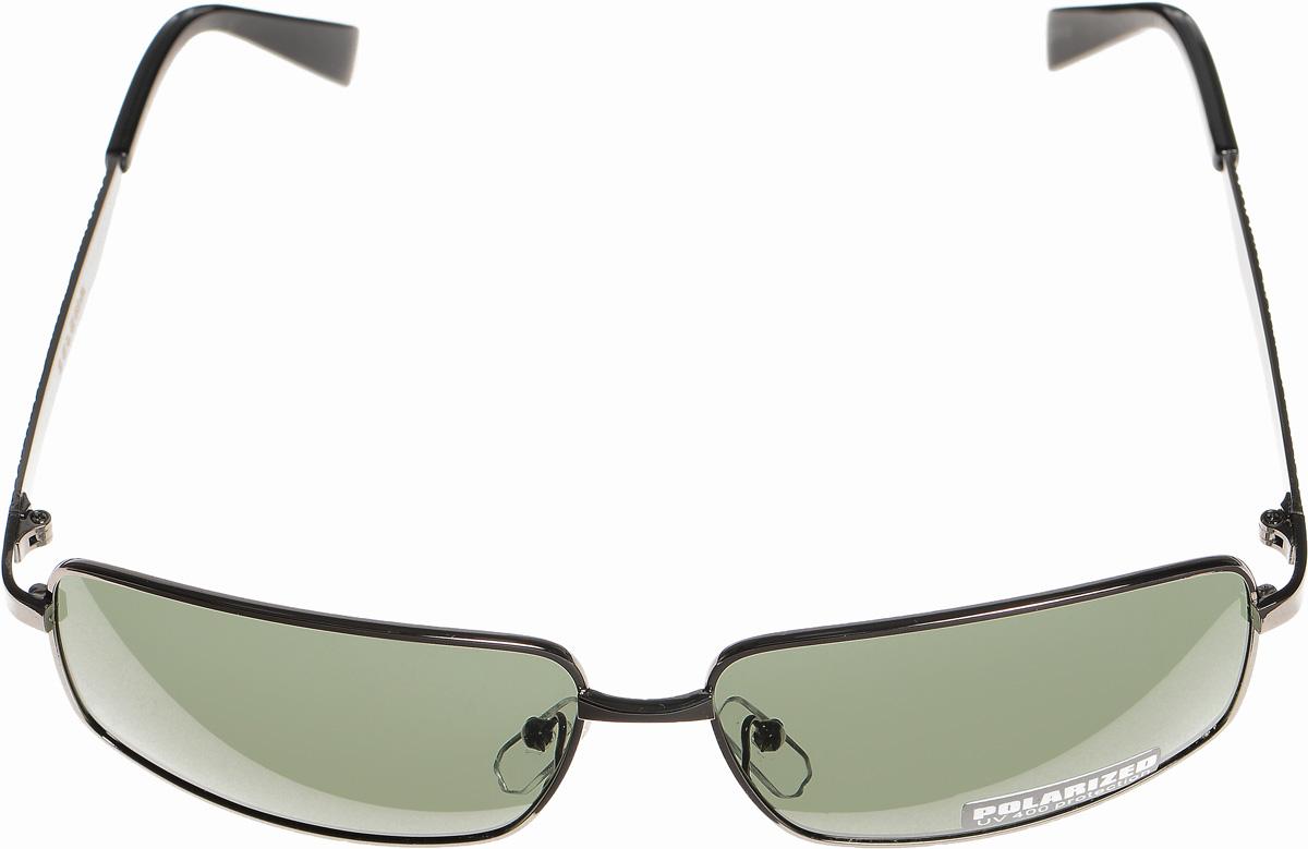 Очки солнцезащитные женские Selena, цвет: зеленый, темно-серый. 8003294180032941Солнцезащитные женские очки Selena выполнены из металла с элементами из высококачественного пластика. Дужки оформлены декоративной резьбой напоминающей кажу рептилии. Линзы данных очков с высокоэффективным фильтром UV-400 Protection обеспечивают полную защиту от ультрафиолетовых лучей. Используемый пластик не искажает изображение, не подвержен нагреванию и вредному воздействию солнечных лучей. Такие очки защитят глаза от ультрафиолетовых лучей, подчеркнут вашу индивидуальность и сделают ваш образ завершенным.