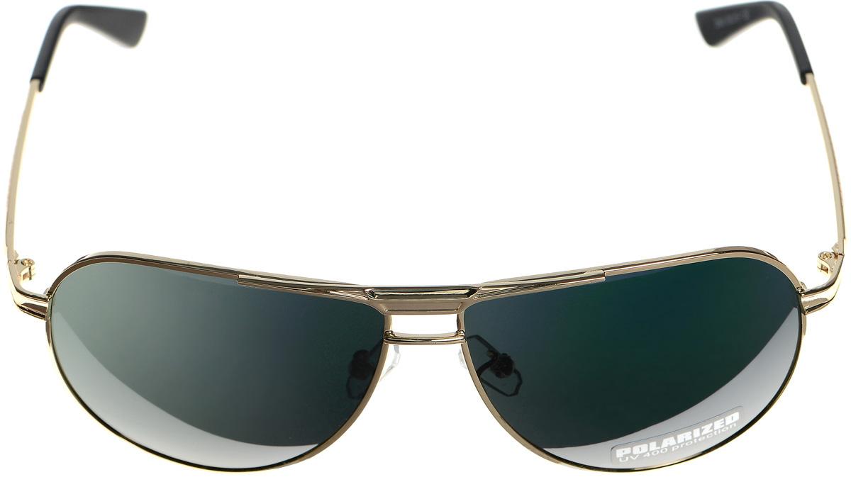 Очки солнцезащитные женские Selena, цвет: зеленый, золотистый, черный. 8003315180033151Солнцезащитные женские очки Selena выполнены из металла с элементами из высококачественного пластика. Дужки оформлены декоративной резьбой. Линзы данных очков с высокоэффективным фильтром UV-400 Protection обеспечивают полную защиту от ультрафиолетовых лучей. Используемый пластик не искажает изображение, не подвержен нагреванию и вредному воздействию солнечных лучей. Такие очки защитят глаза от ультрафиолетовых лучей, подчеркнут вашу индивидуальность и сделают ваш образ завершенным.