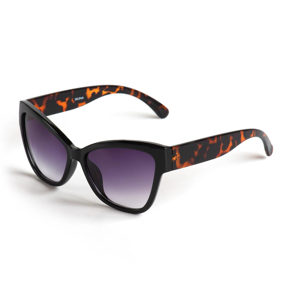 Солнцезащитные очки жен. Selena, цвет: черный, коричневый. 8003326180033261100% защита от ультрафиолетовых лучей.