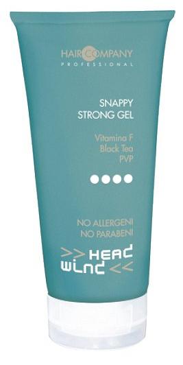 Hair Company Гель экстра сильной фиксации Head Wind Top Fix Snappy Strong Gel 250 мл253646/LB11894 RUSСредство для моделирования любых причесок, обеспечивает максимальную фиксацию и подчеркивает естественную форму. Быстрое высыхание. Идеален для экстремальных укладок. Подходит для обработки индивидуальных прядей. Не содержит аллергенов и парабенов. Активные компоненты: Витамин F - улучшает капиллярную целостность и разжижает клеточную мембрану. Черный чай - антиоксидант и противовоспалительные свойства. PVP - смола с фиксирующей силой.