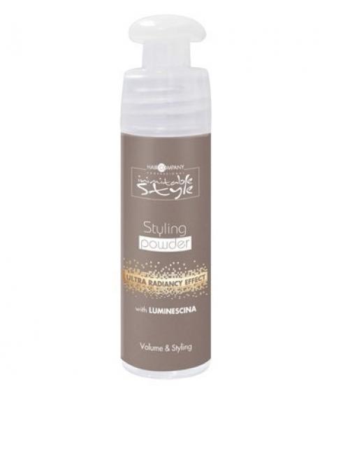 Hair Company Моделирующая пудра 5 гр Professional Inimitable Style Styling Powder 5 мл254780/LB12178 RUSМоделирующая пудра HAIR COMPANY INIMITABLE STYLE Максимальный объем для ваших волос. Мельчайший порошок, который придает объем и обеспечивает стильную укладку. Усиливает цвет и сияние волос.