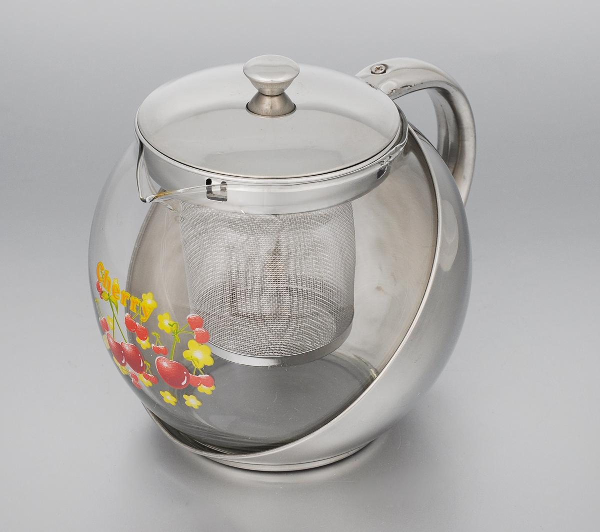 Чайник заварочный Mayer & Boch Вишня, с фильтром, 900 мл2026_вишняИзящный и современный стиль чайника Mayer & Boch Вишня прекрасно подчеркнет декор любой кухни. Стеклянный корпус и съемный фильтр из нержавеющей стали позволяют быстро и легко очистить чайник. Может быть использован для подачи как горячих, так и холодных напитков. Простой и удобный чайник Mayer & Boch Вишня послужит великолепным подарком для любителей чая. Диаметр чайника (по верхнему краю): 8,5 см. Высота чайника (без учета крышки): 12 см. Высота фильтра: 7,5 см.