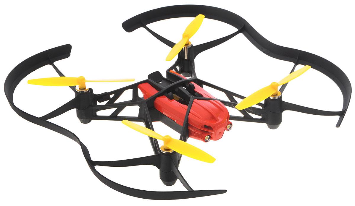 Parrot Квадрокоптер на радиоуправлении Blaze Airborne Night DronePF723108Квадрокоптер на радиоуправлении Parrot Blaze Airborne Night Drone обладает системой стабилизации, которая позволяет удерживать стабильное положение устройства, предотвращая его падение в результате ошибок пользователя или воздействия сильных порывов ветра. Чтобы использовать мини-дрон вам понадобится смартфон или планшет, поддерживающий Bluetooth 4.0. Запустите приложение FreeFlight3. Между смартфоном и мини-дроном автоматически установится соединение. Чтобы поднять мини-дрон в воздух нажмите на кнопку Take Off. Встроенная камера позволяет совершать снимки с высоты птичьего полета Пользователь может выполнять различные трюки, включая переворот на 360 градусов. Ночной режим. Два мощных светодиода обеспечивают эффективную подсветку, позволяющую пользоваться устройством даже в полной темноте.
