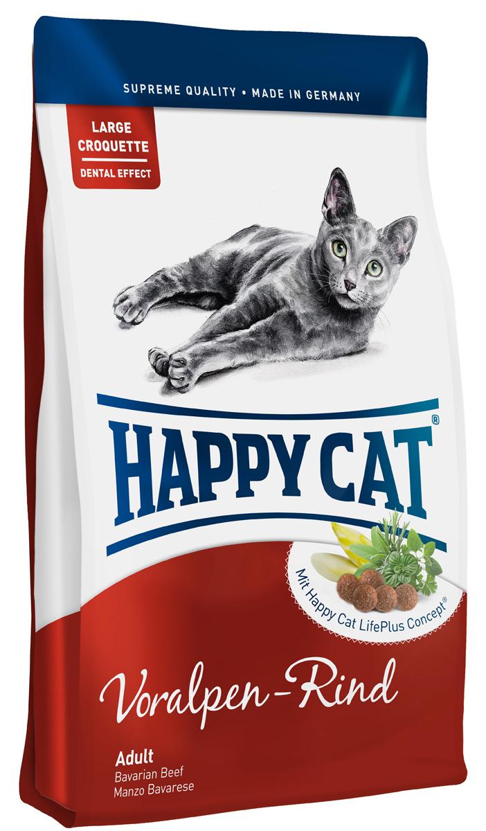 Happy Cat Adult Альпийская говядина, для взрослых кошек с нормальной активностью, 10 кг70040Happy Cat Adult, альпийская говядина изготовлен без рыбных компонентов, с легко перевариваемыми протеинами говядины и птицы, не дающими лишней нагрузки на пищеварительную систему. Дополненный уникальным Happy Cat LifePlus Concept из активных натуральных ингредиентов, этот корм - эксклюзивный деликатес для взрослых кошек.