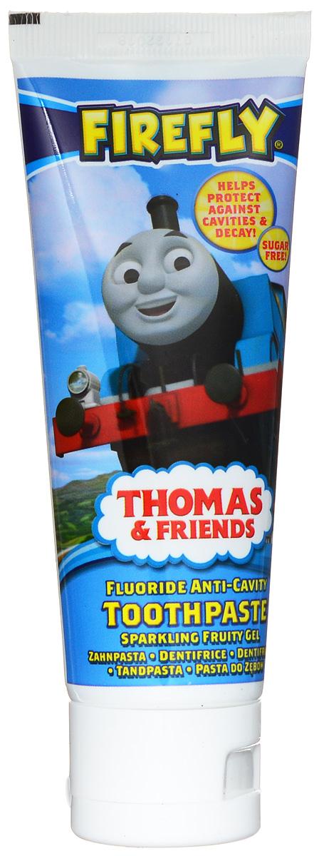 Thomas & Friends Зубная паста-гель 75 млTF-1Зубная паста Thomas & Friends с флюоридом (1000 ppm) защищает от кариеса, укрепляет и реминерализирует эмаль, сохраняет десны здоровыми. Паста со вкусом Bubble Gum поможет сделать процесс чистки зубов более приятным. Для детей от 6 лет.