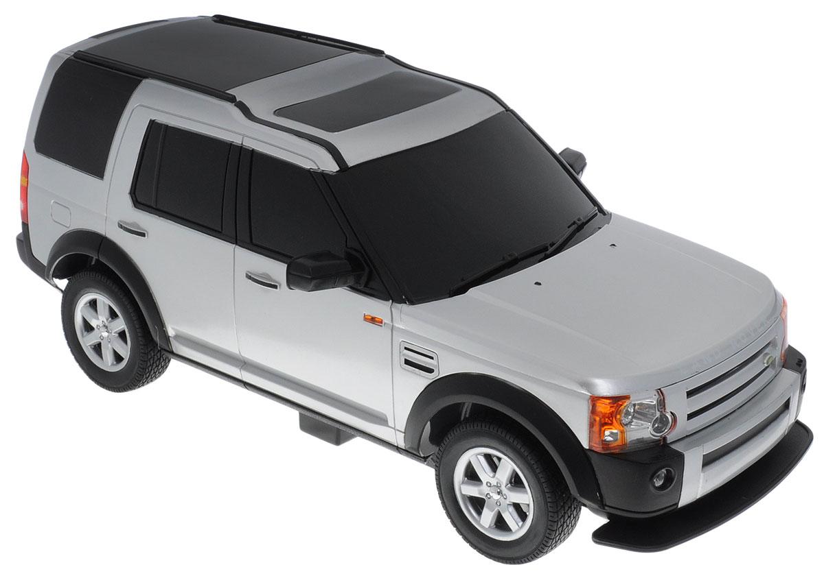 Rastar Радиоуправляемая модель Land Rover Discovery 3 цвет серебристый масштаб 1:14LR3-14/21900Радиоуправляемая модель Rastar Land Rover Discovery 3 привлечет внимание взрослого и ребенка и понравится любому, кто увлекается автомобилями. Серьезные габариты придают реалистичность в управлении. Авто отличается потрясающей маневренностью, динамикой и покладистостью. Это точная копия настоящего авто в масштабе 1:14. Машина обладает неповторимым провокационным стилем. Возможные движения: вперед, назад, вправо, влево, остановка. Имеются световые эффекты. Колеса игрушки прорезинены и обеспечивают плавный ход, машинка не портит напольное покрытие. Радиоуправляемые игрушки способствуют развитию координации движений, моторики и ловкости. Пульт управления работает на частоте 40 MHz. Для работы машины необходимо купить 5 батареек типа АА, для работы пульта управления батарейку типа Крона (не входят в комплект).