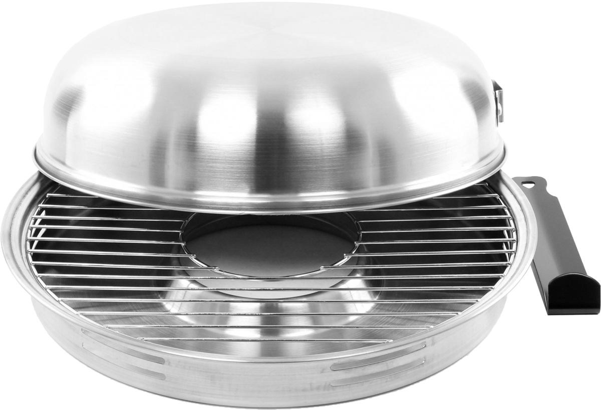 Сковорода Гриль-газ, диаметр 32,8 смD-504Сковорода Гриль-газ выполнена из высококачественной нержавеющей стали 304. Этот металл безопасен, при нагревании и контакте с пищей не выделяет никаких вредных веществ. Кроме того, нержавеющая сталь не подвергается коррозии, что позволяет продлить срок эксплуатации. Изделие оснащено съемной ручкой. Сковорода идеально подходит для приготовления мяса и рыбы без жира. С данным изделием вы получите здоровые и легкие блюда без жиров, дыма и запахов. Книга рецептов в подарок. Рекомендации по времени приготовления: Мясо (костица, отбивные, вырезка, котлеты): 25-30 минут. Курица (крылышки, голень, филе куриное): 20-25 минут. Рыба (в кляре, фаршированная): 10-15 минут. Выпечка (слоеное тесто, сырники, кексы): 15-20 минут. Овощи (картофель, томат, цукини, лук, баклажаны, болгарский перец, грибы и другое): 10-15 минут. Фрукты (яблоки, груши): 8-10 минут. Диаметр крышки: 31,5 см. Высота крышки: 8,3 см. Диаметр поддона: 32,8...