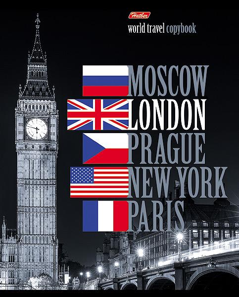 Hatber Тетрадь World Travel London 96 листов в клетку96Т5вмB1_12870_LondonТетрадь Hatber World Travel London подойдет как школьнику, так и студенту. Обложка тетради выполнена из картона и украшена изображением знаменитой часовой башни Биг-Бен. Внутренний блок тетради на металлических скобах состоит из 96 листов белой бумаги с линовкой в клетку голубого цвета с полями.