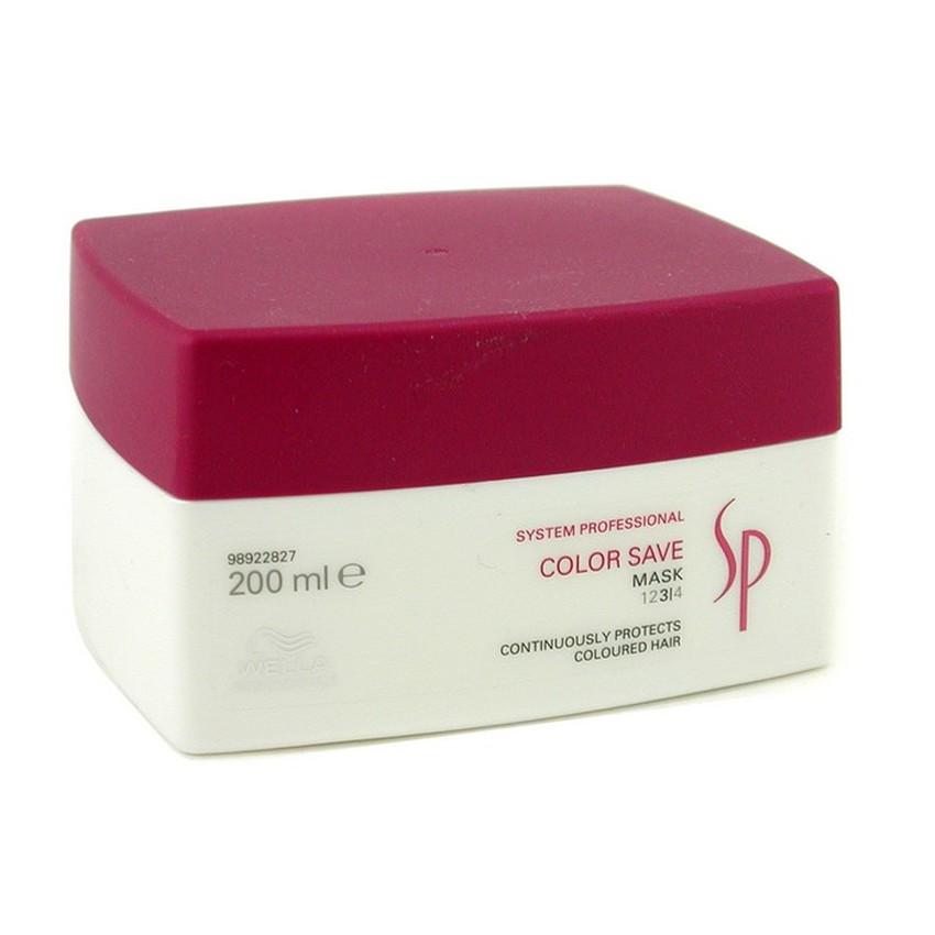 Wella SP Маска для окрашенных волос Color Save Mask, 200 мл81250841Окрашенные волосы нуждаются в дополнительном уходе. Компания Велла разработала эффективное средство для нормальных окрашенных волос маску Color Save Mask. Средство питает и увлажняет волосы, а также заботится об интенсивности цвета. В состав средства входит уникальная разработка специалистов Wella комплекс питательных веществ Lumi Protect.