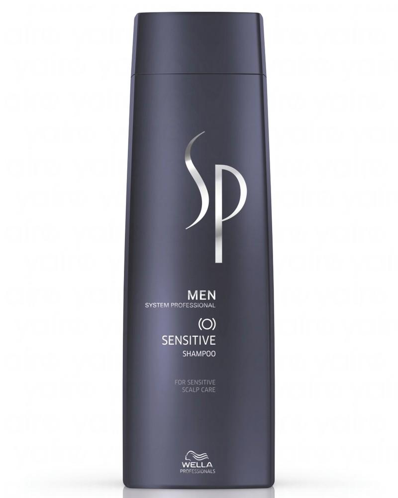 Wella SP Шампунь для чувствительной кожи головы Men Sensitive Shampoo, 250 мл81311342Шампунь для чувствительной кожи головы Sensitive Shampoo бережно очищает кожу головы, восстанавливая естественный кислотно-щелочной баланс. Также средство следит за уровнем увлажненности кожи, смягчает ее и снимает воспаления. Мягкий шампунь подходит для ежедневного использования для кожи головы любого типа, особенно чувствительной. DL-валин успокаивает кожу головы, снимает воспаление, витамины В5, А, Е, F укрепляют волосы, бисаболол уменьшает шелушение и стянутость кожи головы.