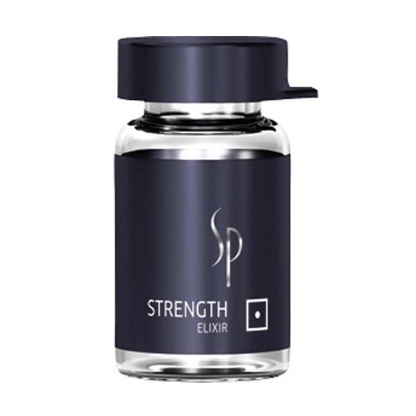 Wella SP Укрепляющий эликсир Men Strength Elixir, 6х2 мл81311357Укрепляющий эликсир Hydrate Elixir благодаря содержанию необходимого волосам кератина, полимеров и натурального хитозана, делает тонкие волосы более сильными. Креатин усиливает волосы изнутри, полимеры усиливают, а натуральный хитозан улучшает структуру волос.