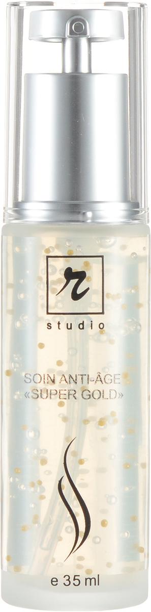 R-studio Anti-age «Super Gold» - Концентрат для лица35 мл4073Высокоэффективное средство для специализированного ухода за кожей. с признаками возрастных изменений , Имеет интенсивное, редукцирующее действие против морщин, укрепляет, стимулирует и улучшает тонус кожи, дает омолаживающий эффект, придает коже здоровый, привлекательный цвет и повышает ее потенциал самовосстановления, что замедляет процессы преждевременного старения.