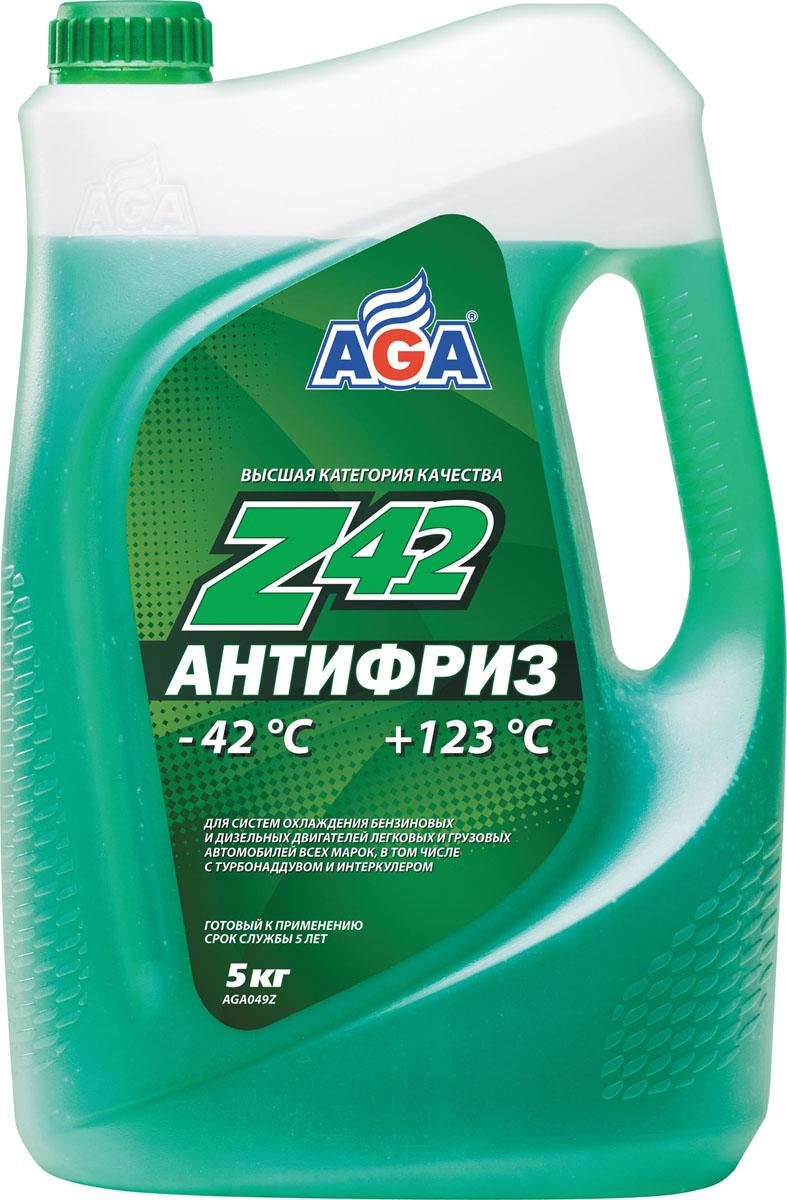 Антифриз, готовый к применению AGA, зеленый, -42 °С. AGA 049 ZAGA 049 ZСрок службы — до 5 лет, или 150 000 км пробега. Рабочий диапазон температур: от –42 до +123 °C. Отличается усиленной антикавитационной защитой припоя, алюминия, меди, латуни, стали и чугуна. Разработан с учетом требований: ASTM D 4985/5345; BMW N600 69.0; DaimlerChrysler DBL 7700.20; Audi, Porsche, Seat, Skoda, VW TL 774?D; G-48; Ford WSS-M97 B44?D, TTM АвтоВАЗ.