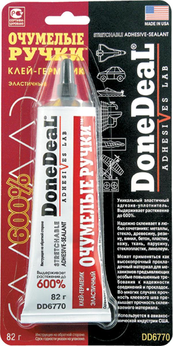Эластичный клей-герметик Done Deal Очумелые ручки. DD 6770DD 6770Уникальный водостойкий полиуротановый клей герметик DD6770 формирует суперэластичнный (выдерживающий 600% растяжение) уплотняющий слой с высокой адгезией к большинстшу полиморных материалов: поливинилхлориду (ПВХ, винилу, линолеуму), полиуретану, полиметилметакрилату (оргстеклу) и другим, также пригодон для герметизации и склеивания резиновых, тканых (включая парусину), керамических, кожаных, шероховатых металлических, деревянных и других поверхностей. Обладает хорошей термостойкостью сохраняет эксплуатационные свойства при температурах до 105С. Уплотняет и герметизирует торцевые соединения отделочных пластиковых панелей, линолеума и кафельных плиток. Пригоден для последующей окраски. Герметизирует соединения водопроводных и канализационных систем, вентили и т. д. Пригоден для ремонт обуви. Эластичность клея-герметика позволяет использовать его для работы с материалами, испытывающими деформационные нагрузки. Имеет сотни применений в хозяйстве, автомобиле и хобби. Прочность слоя...