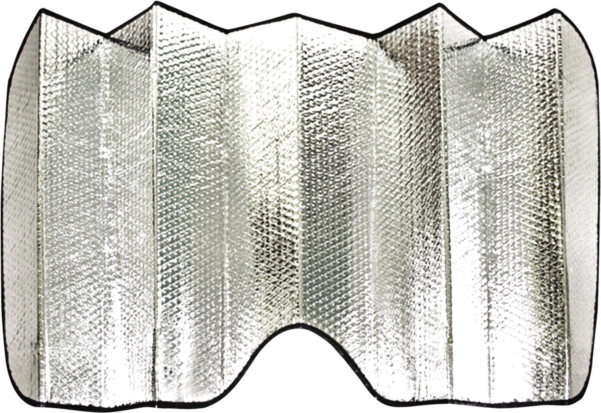 Шторка солнцезащитная Zipower. PM 0715PM 0715Экран предназначен для лобового стекла автомобиля. Имеет светоотражающий наружный и внутренний термоизоляционный слои.Светоотражающий наружный и внутренний термоизоляционный слои препятствуют проникновению солнечных лучей в салон автомобиля, тем самым исключая его нагрев. Размер шторки в разложенном виде: 130 х 60 см. Размер шторки в сложенном виде: 15 х 60 см.