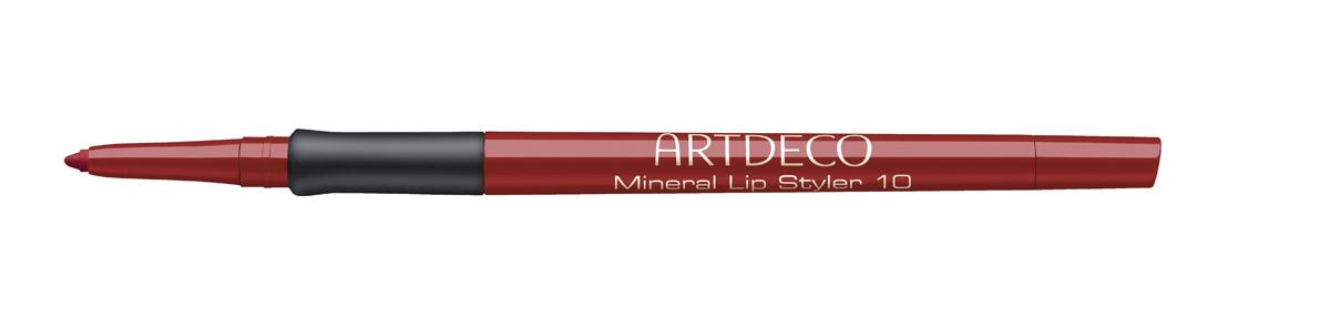 Artdeco Минеральный Карандаш для губ Mineral Lip Styler 10 0,4 г336.10Карандаш с тонким грифелем, автоматической подачей и встроенной точилкой. Рисует четкий контур, который, благодаря устойчивой текстуре, долго держится на губах и сохраняет безупречный вид макияжа. Состав гиппоалергенен и подходит для чувствительной кожи