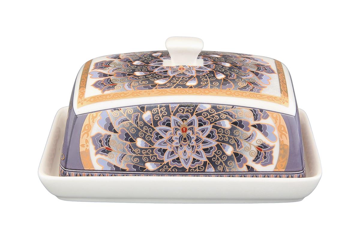 Масленка Elan Gallery Калейдоскоп180821Великолепная масленка , выполненная из высококачественной керамики, предназначена для красивой сервировки и хранения масла.