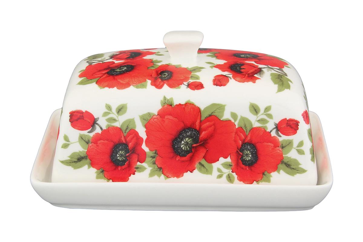 Масленка Elan Gallery Маки180826Великолепная масленка , выполненная из высококачественной керамики, предназначена для красивой сервировки и хранения масла.