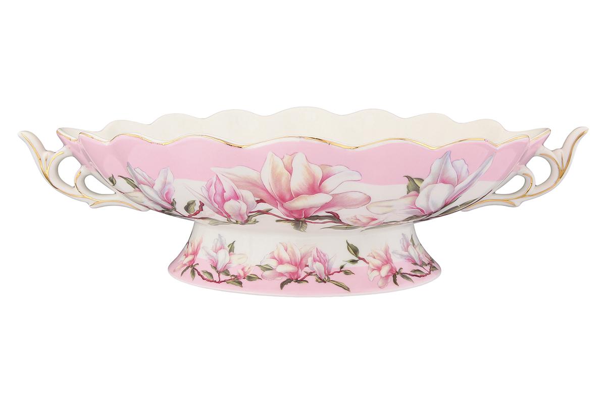 Конфетница-ладья Elan Gallery Орхидея на розовом180838Изящная конфетница-ладья, изготовленная из высококачественной керамики, подходит для конфет, снеков и варенья. Кофетница оригинально украсит ваш стол и станет прекрасным дизайнерским решением.