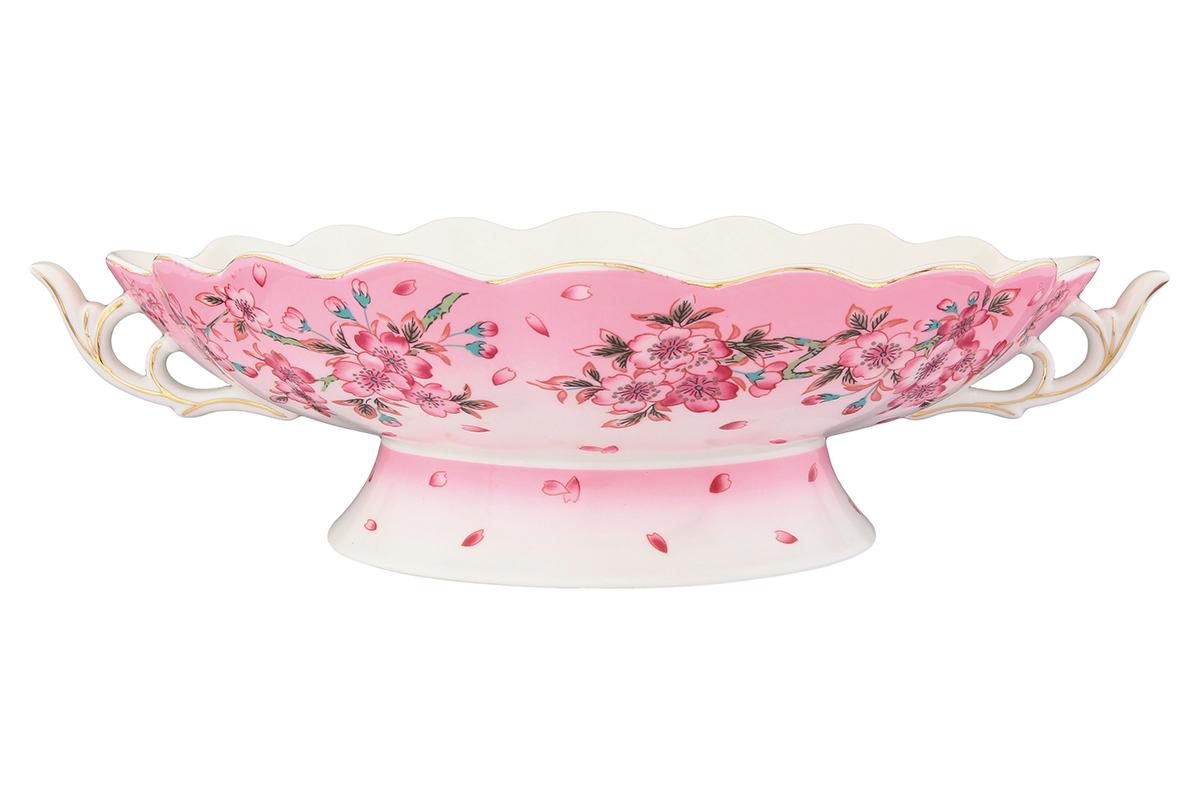 Конфетница-ладья Elan Gallery Сакура180839Изящная конфетница-ладья, изготовленная из высококачественной керамики, подходит для конфет, снеков и варенья. Кофетница оригинально украсит ваш стол и станет прекрасным дизайнерским решением.