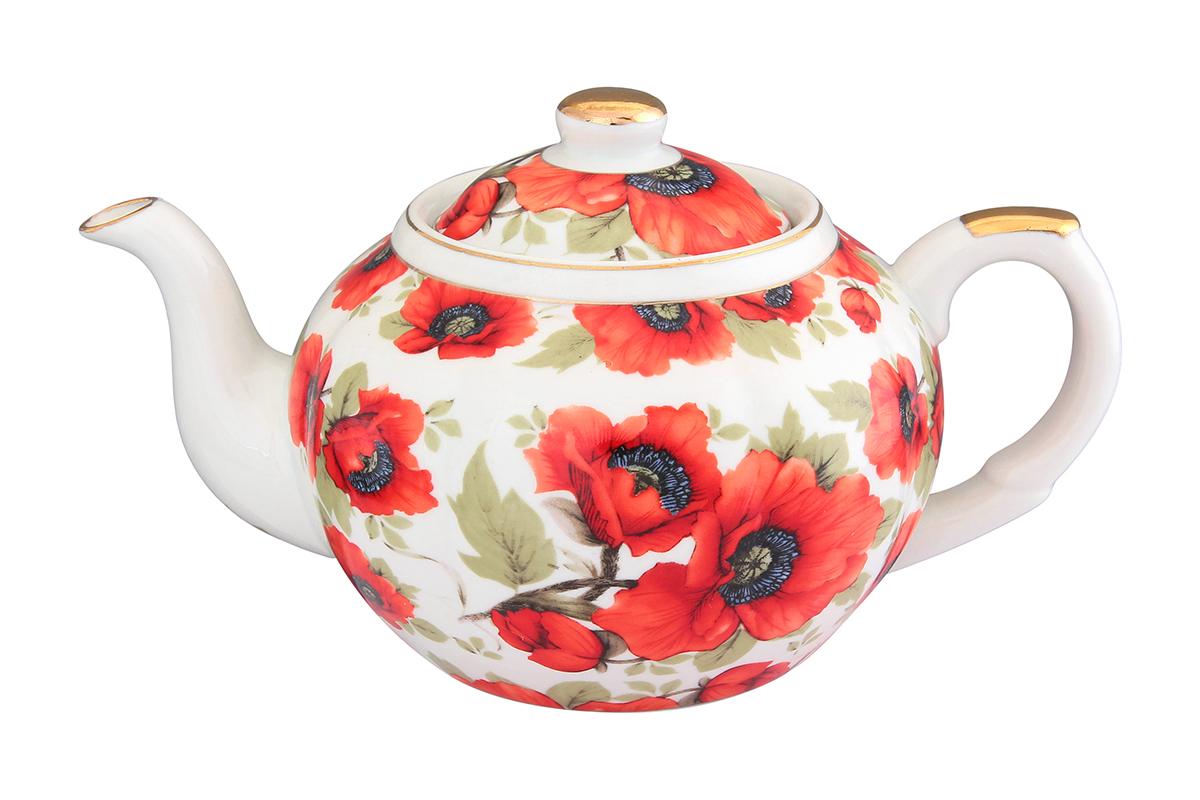 Чайник с металлическим ситом Elan Gallery Маки, 900 мл471324Заварочный чайник объемом 900мл изготовлен из высококачественной керамики с гладким глазурованным покрытием. Чайник снабжен съемным металлическим ситечком, удобной ручкой и широким носиком. В основании носика расположены фильтрующие отверстия от попадания чаинок в чашку. Изысканный заварочный чайник украсит сервировку стола к чаепитию. Благодаря красивому утонченному дизайну и качеству исполнения он станет хорошим подарком друзьям и близким.