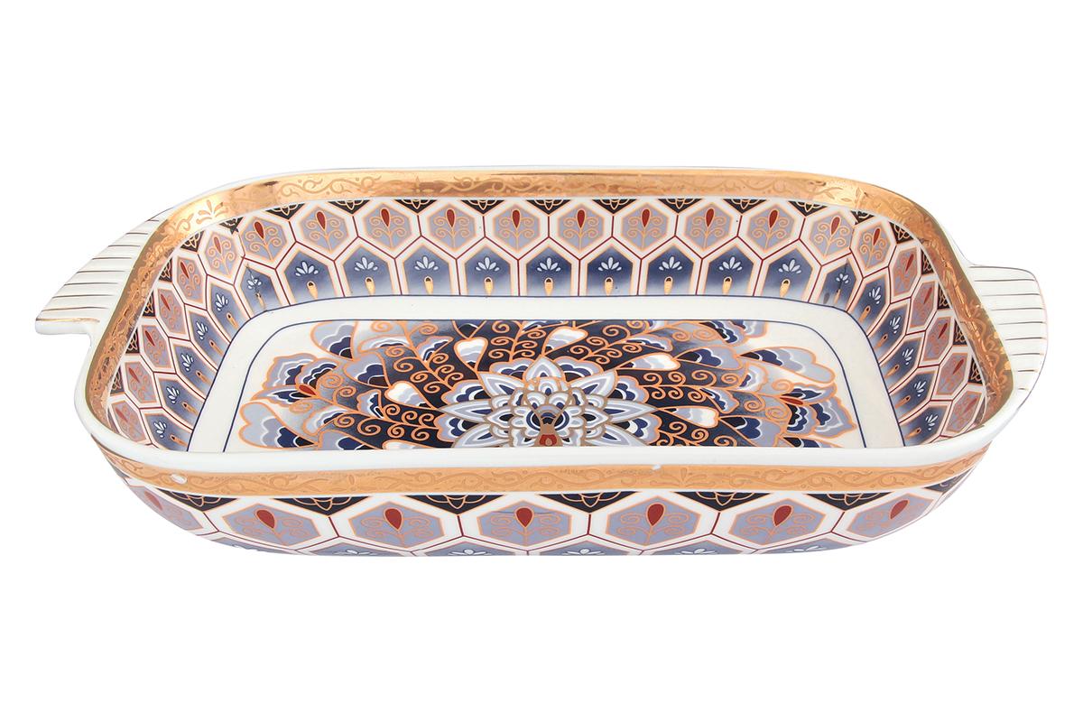 Шубница Elan Gallery Калейдоскоп, 900 мл471339Шубница, выполненная из высококачественной керамики, идеальное блюдо для сервировки традиционного салата Сельдь под шубой или любого другого слоеного салата. Компактное, аккуратное блюдо с ручками для удобства станет незаменимым при любом застолье. Изделие имеет подарочную упаковку, поэтому станет желанным подарком для ваших близких! Объем 900 мл.