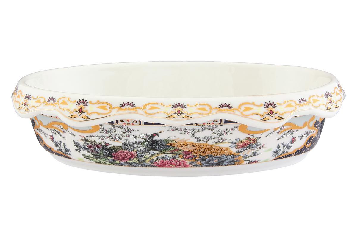 Блюдо-шубница Elan Gallery Павлин, 900 мл. 503600503600Красочная посуда подарит настроение и уют, привнесет разнообразие в приготовление ваших любимых блюд и сервировку семейного стола.