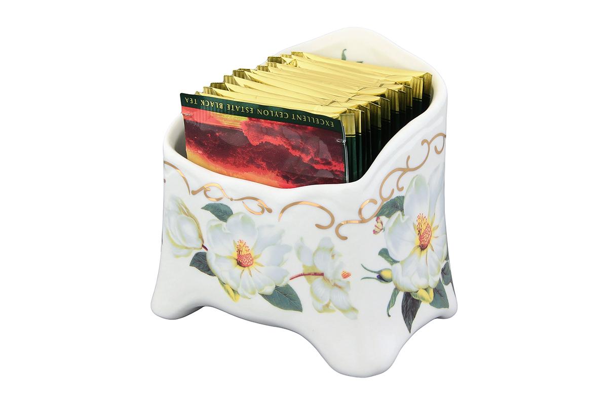 Подставка сервировочная для чайных пакетиков Elan Gallery Белый шиповник503965