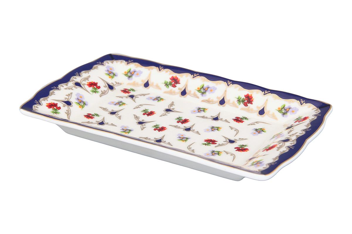 Тарелка под масло Elan Gallery Цветочек503987Изящная тарелочка замечательно подойдет для сервировки масла и нарезки из сыра или мяса. Идеально будет смотреться на праздничном столе.