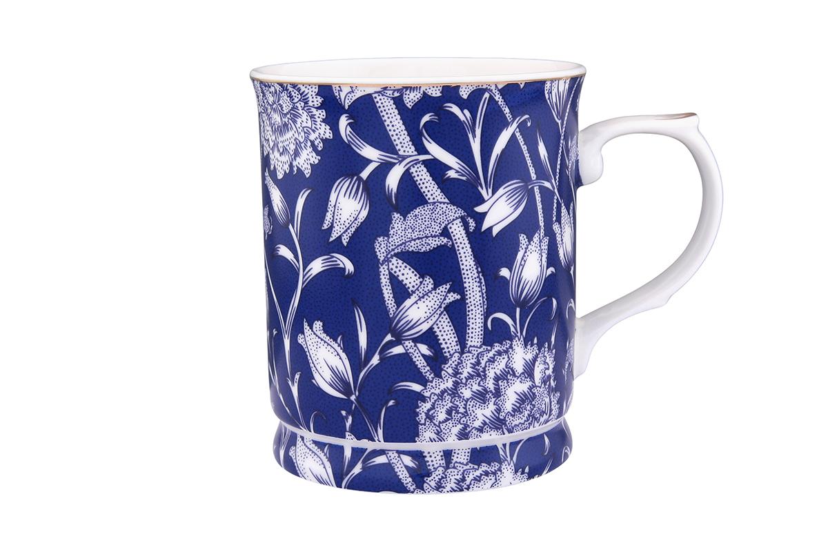 Кружка Elan Gallery Колокольчики на синем, 400 мл730551Кружка с замечательным рисунком любителям долгих и душевных чаепитий в компании.