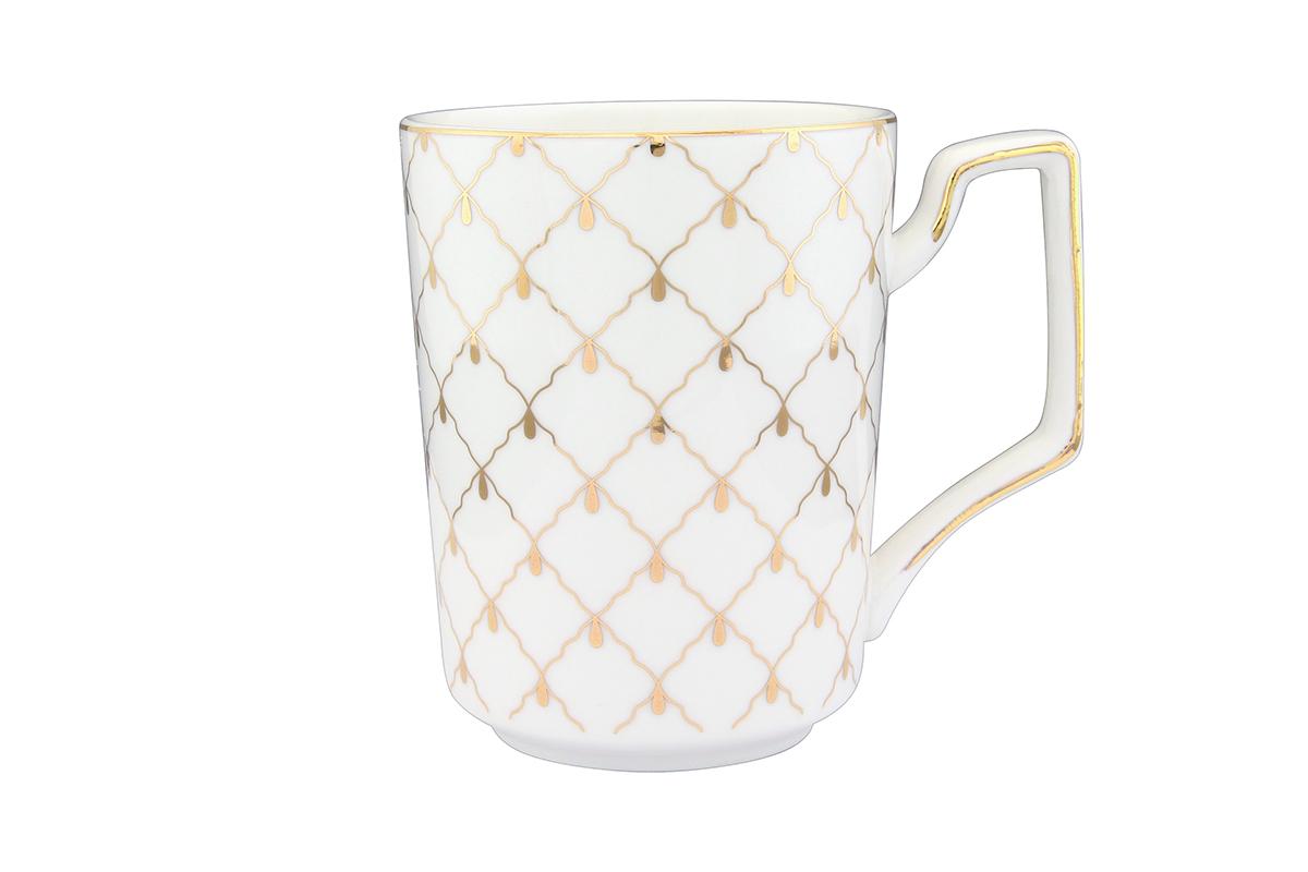 Кружка Elan Gallery Золотая сетка, 400 мл730583Оригинальная кружка с прекрасным дизайном изготовлена из высококачественной керамики. Она украсит сервировку любого стола и подчеркнет прекрасный вкус хозяина.