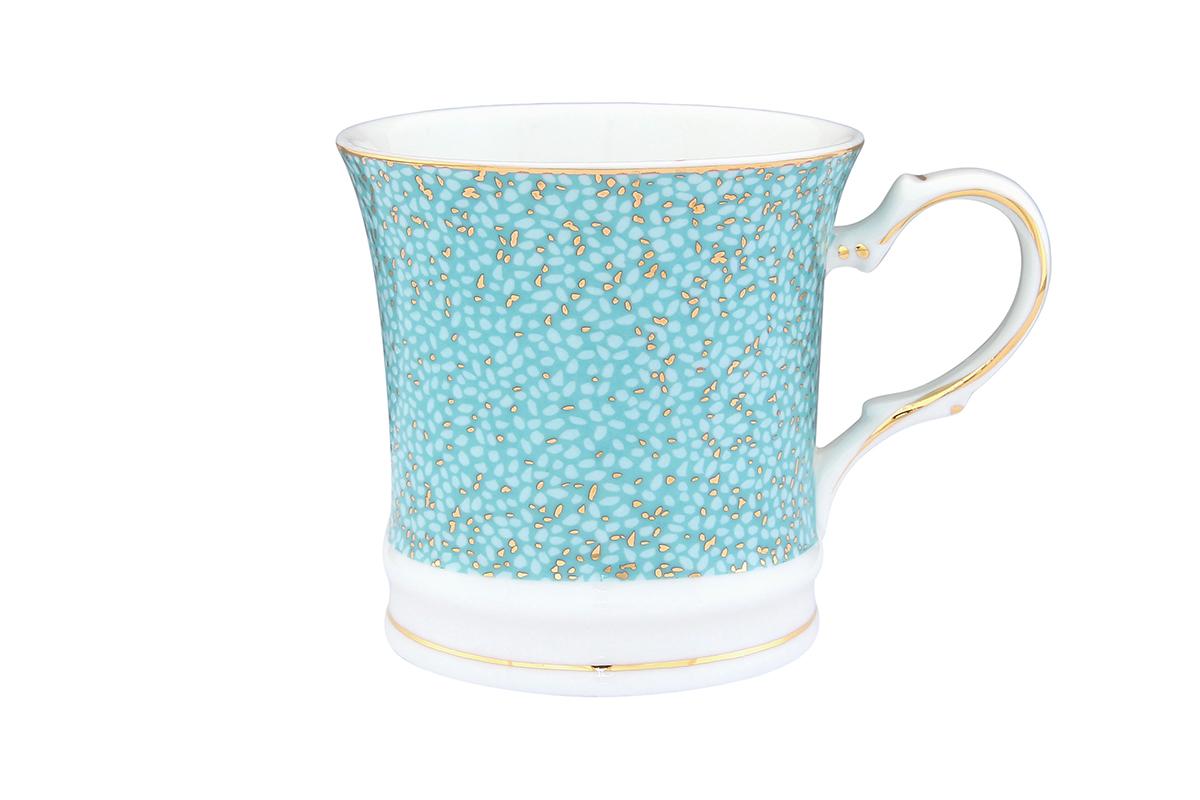 Кружка Elan Gallery Золотая россыпь, цвет: бирюзовый, 170 мл730585Оригинальная кружка с прекрасным дизайном изготовлена из высококачественной керамики. Она украсит сервировку любого стола и подчеркнет прекрасный вкус хозяина.