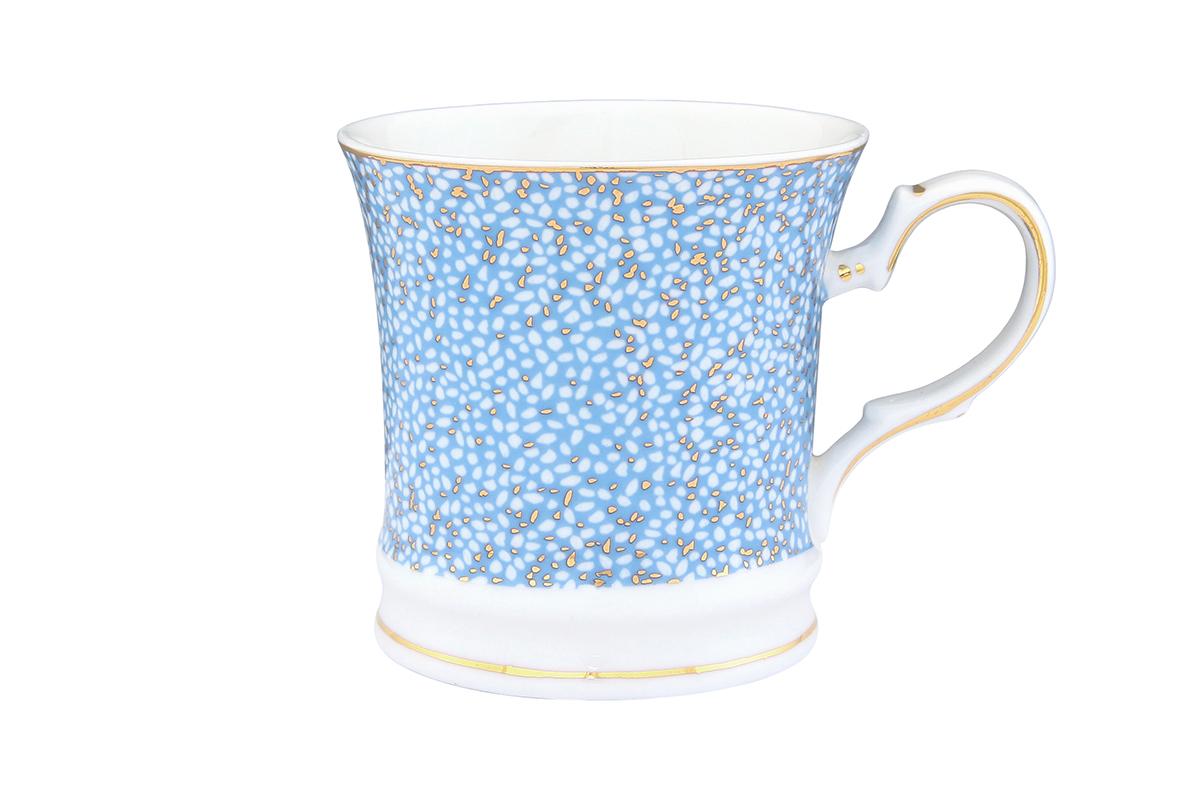 Кружка Elan Gallery Золотая россыпь, цвет: небесно-голубой, 170 мл730586Оригинальная кружка с прекрасным дизайном изготовлена из высококачественной керамики. Она украсит сервировку любого стола и подчеркнет прекрасный вкус хозяина.