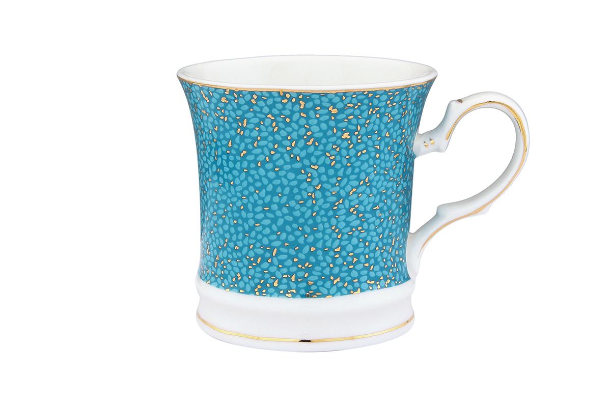 Кружка Elan Gallery Золотая россыпь, цвет: морской волны, 170 мл730588Оригинальная кружка с прекрасным дизайном изготовлена из высококачественной керамики. Она украсит сервировку любого стола и подчеркнет прекрасный вкус хозяина.