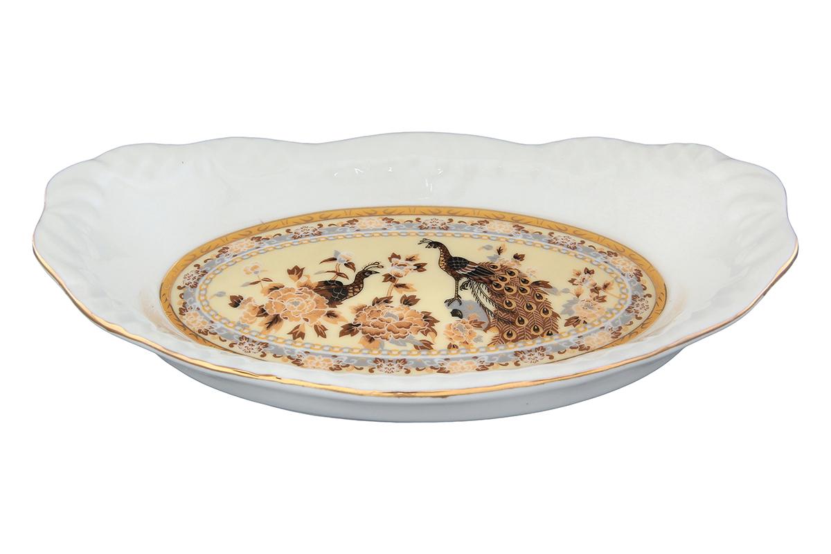 Шпротница Elan Gallery Павлин. 740212740212Яркая посуда подарит настроение и уют, привнесет разнообразие в приготовление ваших любимых блюд и сервировку семейного стола