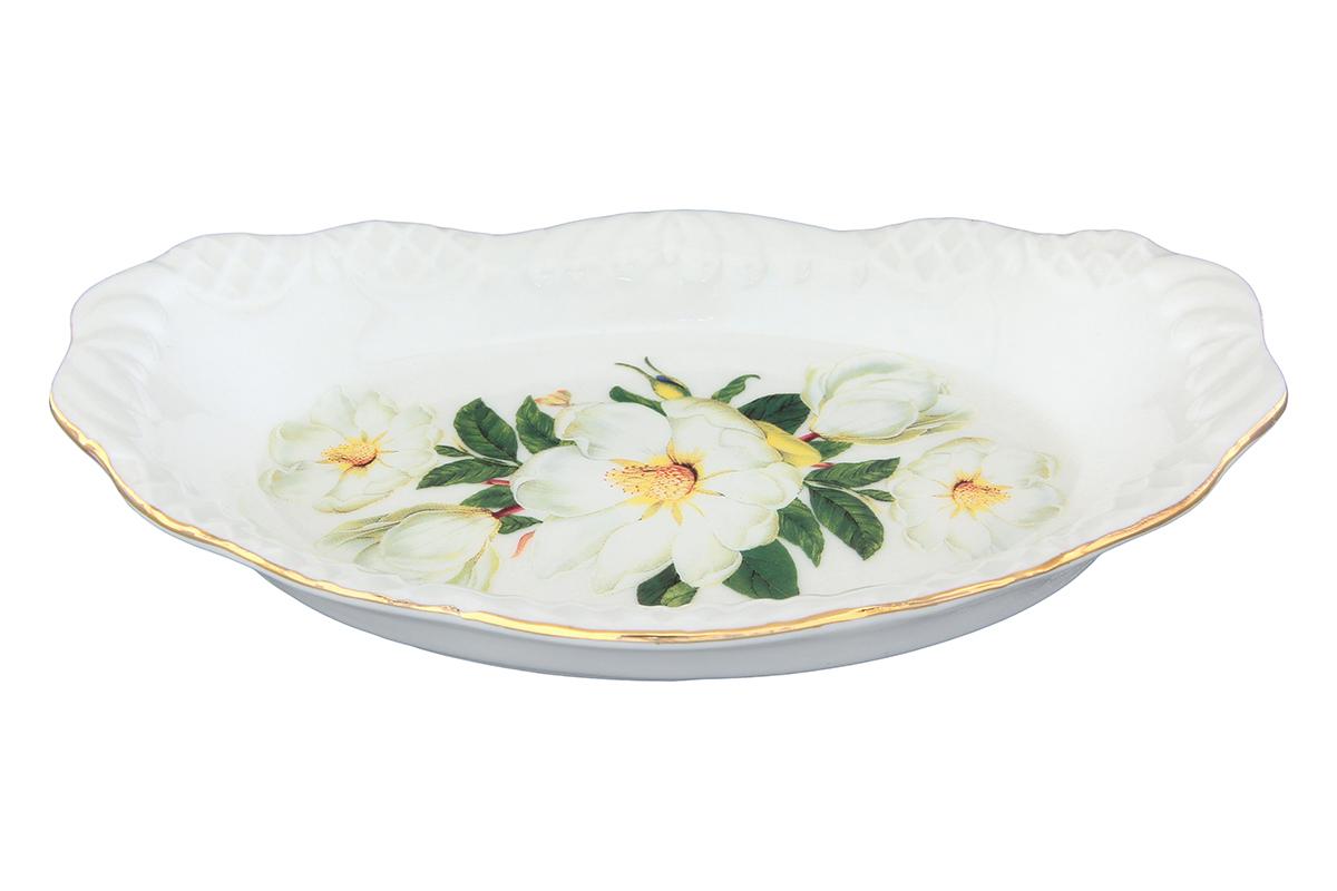 Шпротница Elan Gallery Белый шиповник740214Изяшная шпротница изготовлена из высококачественной керамики. Благодаря прекрасному дизайну, шпротница станет отличным дополнением к вашему кухонному инвентарю.