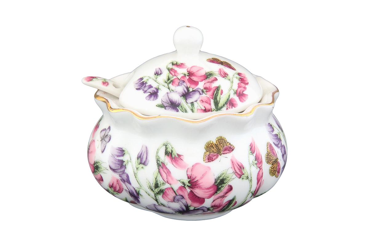 Хреновница Elan Gallery Душистый цветок, с ложкой, 200 мл740223Оригинальная хреновница, изготовленная из керамики благодаря красочному дизайну, прекрасно дополнит сервировку вашего стола.